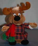 "Singender Rentier Beverly Hills Teddybär Co 12 "" Weihnachten Jingle Bell... - $17.84"