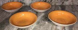 "Royal Norfolk 7 1/2"" Bowls Soup Cereal Set Of 4 Yellow/Orange(New)RARE-SHIP24HRS - $59.28"