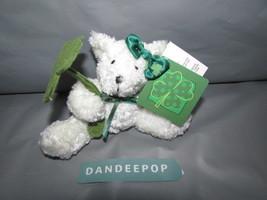 Dan Dee White Bear Stuffed Animal With 4 Leaf Clover Lucky Irish - $12.86