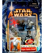 HASBRO STAR WARS ATTACK OF THE CLONES SUPER BATTLE DROID 2002 #06:NEW IN... - $6.99