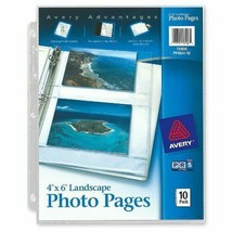 """Avery Horizontal Photo Pages 4"""" X 6"""" 10-Pack 40 Photos for 3-Ring Binder... - $8.13"""