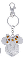 Disney Parks Minnie Mouse Metal November Faux Gem Birthstone Keychain Key Chain - $18.90