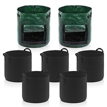 InnoGear Grow Bags, 7 Gallon Aeration Fabric Tomato Plant Vegetable Flow... - $24.90 CAD