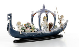 Lladro 01001870 Gondola Of Love Flowers Limited Edition Base Included New  - $6,200.00