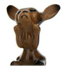 Hagen Renaker Dog Chihuahua Tiny Puppy Black & Tan Ceramic Figurine image 3