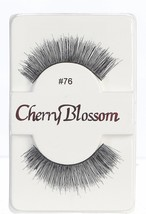 CHERRY BLOSSOM EYELASHES MODEL# 76 -100% HUMAN HAIR BLACK 1 PAIR PER PACK - $1.48+