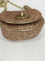 Coach Bag Evening Poppy Gold Sequin Crossbody Leather Chain 43292 Gold B2E image 5