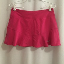 Nike Dri Fit Golf Tennis Skort Size S Hot Pink Flared Peplum Skirt Over ... - $17.82