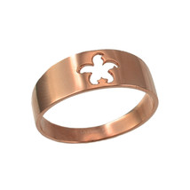 10K Polished Rose Gold Starfish Cut-out Ring Band - $109.99