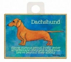 Dachshund Clever Curious Proud Brave Dog Fridge Kitchen Magnet NEW 2.5x3... - $5.86