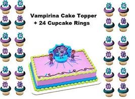 VAMPIRINA Cake Topper Set Cupcake Plus Birthday Supplies Favors Goodies - $21.73