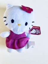 Hello Kitty Plush 6 Inch Pink Dress Flower Sanrio Stuffed Toy 2017 - $8.72