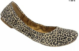 Lucky Brand Women's Emmie Flats Sesame Persian Leopard Suede Leather, Si... - $31.97