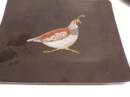 Vintage Couroc Tray Quail Small Rectangular - $14.52