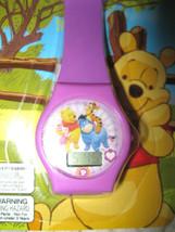 "Disney 9"" Winnie the Pooh,Eeyore,Piglet,&Trigger Purple LCD Watch-New in... - $29.69"