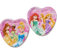 Disney Princess Dream Big Heart Shaped Lunch Plates 8 Ct Party Supplies New - $4.54