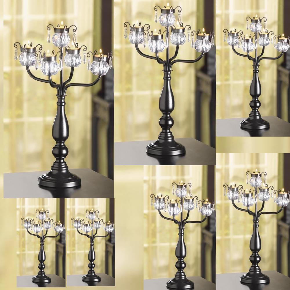 20 Crystal Tree Candelabra Black Candleholder Wedding Centerpieces