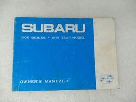 1979 Subaru 1600 Series Owners Manual 17214 - $13.81