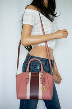 NWT MICHAEL KORS CIARA MEDIUM MESSENGER LEATHER BAG ROSE MULTI  - $103.94