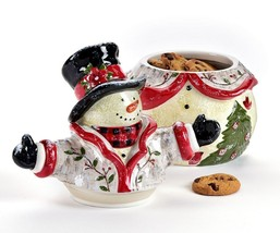 "10.9"" high Snowman Shaped Ceramic Cookie Jar image 2"