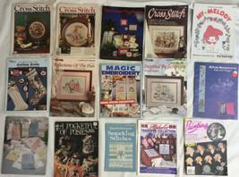 15 Cross Stitch Magazine And Pattern Chart Lot Xmas Stockings & Crafts & More - $46.74