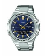 CASIO - AMW860D-2AV - Quartz with Stainless-Steel Strap Men's Watch - Si... - $98.95
