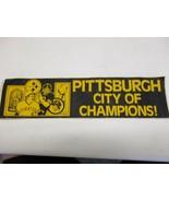 Pittsburgh city of champions bumper sticker Terry Bradshaw Willie Stargell - $9.49