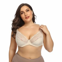 Plus Contrast Lace Underwire Bra - $48.95
