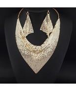 UKMOC Indian Style Shining Metal Slice Bib Choker Statement Necklaces Ea... - £13.81 GBP