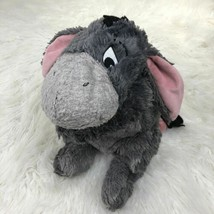 DISNEY LAND Winnie the Pooh EEYORE Stuffed DONKEY Toy Plush GREY PINK EARS - $14.83