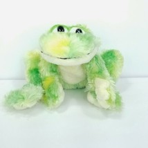 Ganz Webkinz Tie Dye Frog Green Yellow Plush Toy Stuffed Animal No Code - $12.86