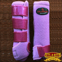 Lrg Hilason Horse Leg Neoprene Ultimate Glitter Trim Sports Boot Pair U-UR-L - $49.95