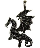 Celtic Visions Dragon Amulet (Power, Pewter, Includes Cord, Made in the ... - $9.99