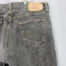 Levis 501 Straight Leg Button Fly Black Denim Jean Pants 40x28 Made In USA - $23.93