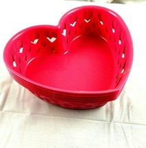 Lot of 5 Heart Shaped Baskets Craft Favor Easter Valentine - $15.00