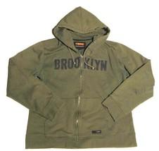 BROOKLYN INDUSTRIES GREEN FULL ZIP HOODIE SWEATSHIRT SZ XL - $36.63