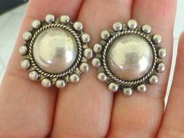 Old Pawn Najavo Sterling Silver Pearl Earrings Screw Back Native America... - €32,02 EUR