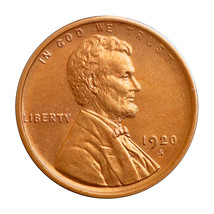 1920 S Lincoln Wheat Cent - Gem BU / MS / UNC - $277.45