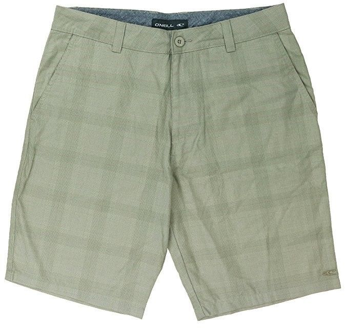 O'Neill Men's Shorts Marcos Plaid Flat Front Short Khaki
