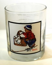 "Vintage 1979 Arbys Norman Rockwell Glass ""Boy Meets His Dog"" Winter Scen... - $11.23"