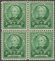 1940 Horace Mann Block of 4 US Postage Stamps Catalog Number 869 MNH