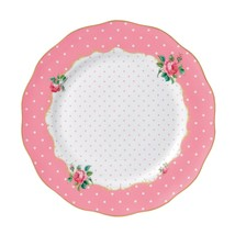 """New Country Roses Cheeky Pink Vintage 10.9"""" Dinner Plate NEW - $32.71"""