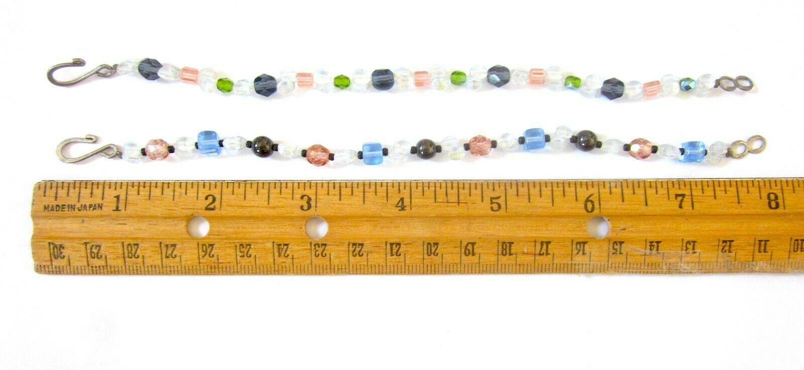 Set of 2 Double Strand Swarovski Opalescent Glass  Beaded Friendship Bracelets  - $0.98