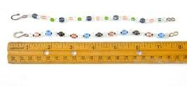 Set of 2 Double Strand Swarovski Opalescent Glass  Beaded Friendship Bra... - $0.98