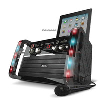 Akai CDG Portable Karaoke System with iPad Cradle and Line Input - $100.41