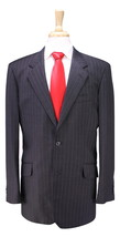 * TM LEWIN * Recent Gray Pinstripe 2-Btn Modern Fit 110's Wool Suit 40L - $157.50