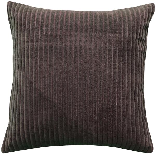 Pillow Decor - Cotton Corduroy Brown Throw Pillow 16x16