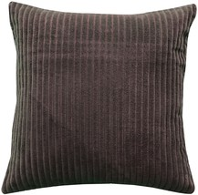 Pillow Decor - Cotton Corduroy Brown Throw Pillow 16x16 - $29.95