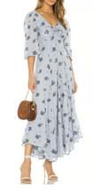 Free People Sea Glass Maxi Dress Blue Combo Floral Boho Size 6 - New Sma... - £30.75 GBP
