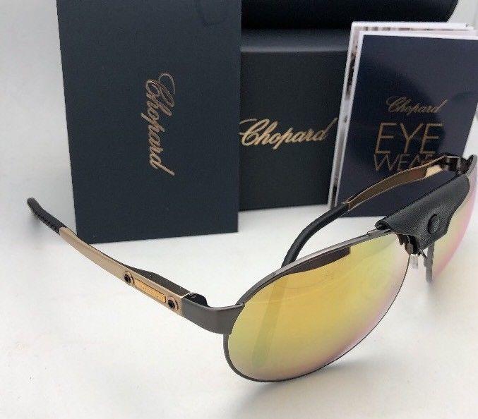 fa878471a8a Polarized CHOPARD Sunglasses SCH 932 K10G 62-16 135 Gold Black Gunmetal  Aviator